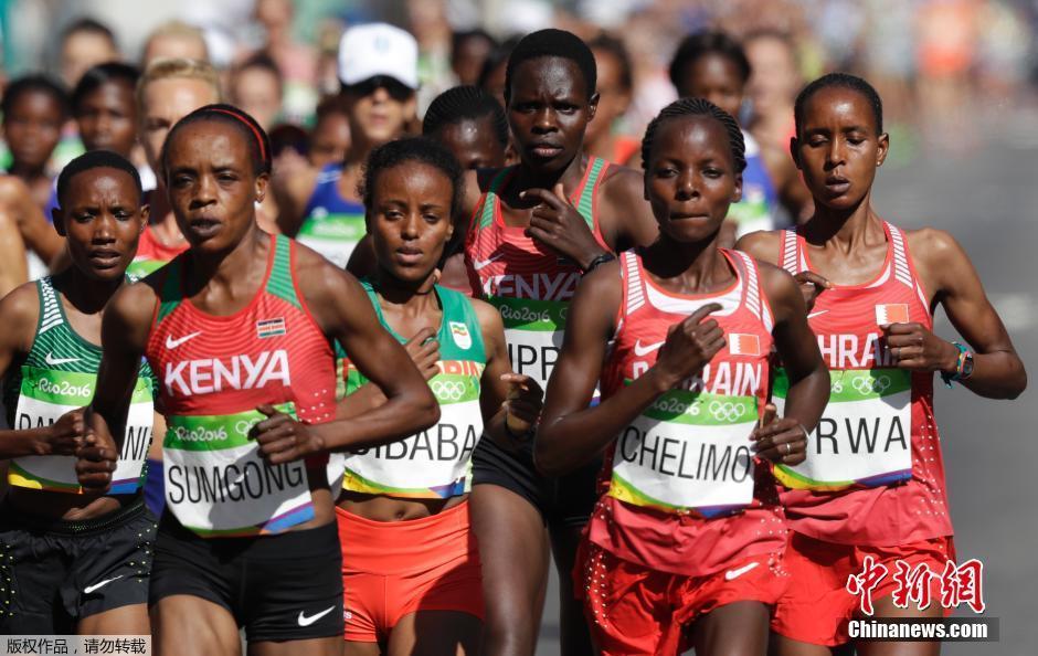 La Kenyane Jemima Sumgong remporte le marathon