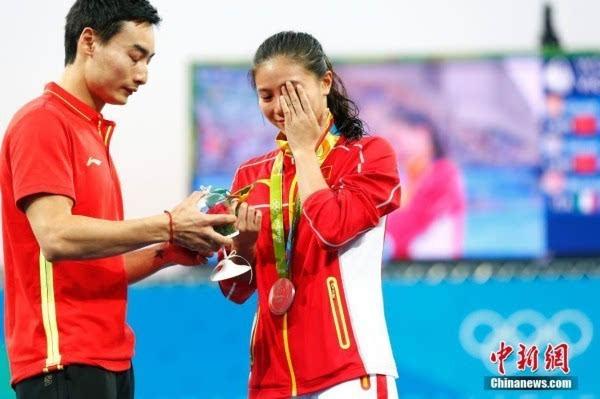 Спортсмен из КНР Цинь Кай сделал предложение своей возлюбленной Хэ Цзы