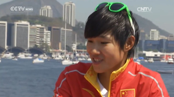 Interview with Chen Peina, silver medalist in sailing