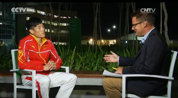 Interview with Cao Shuo, ranking 4th in triple jump