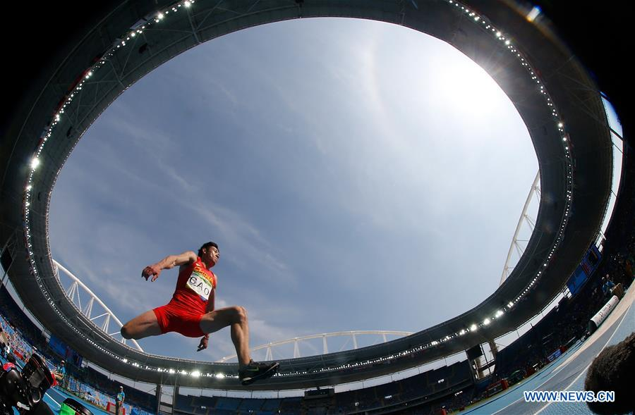 Cao Shuo of China competes during the final of men