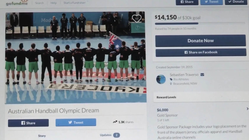 Aussie handball team turns to crowdfunding to pay for Olympic dream