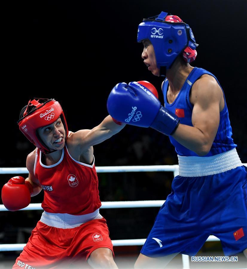 Китаянка Жэнь Цаньцань вышла в полуфинал по боксу в весовой категории 48-51 кг на ОИ