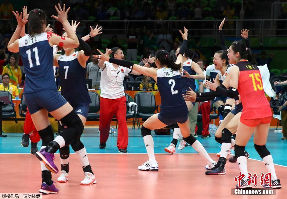 الصين تفوز على البرازيل 3-2 في منافسات كرة الطائرة للسيدات