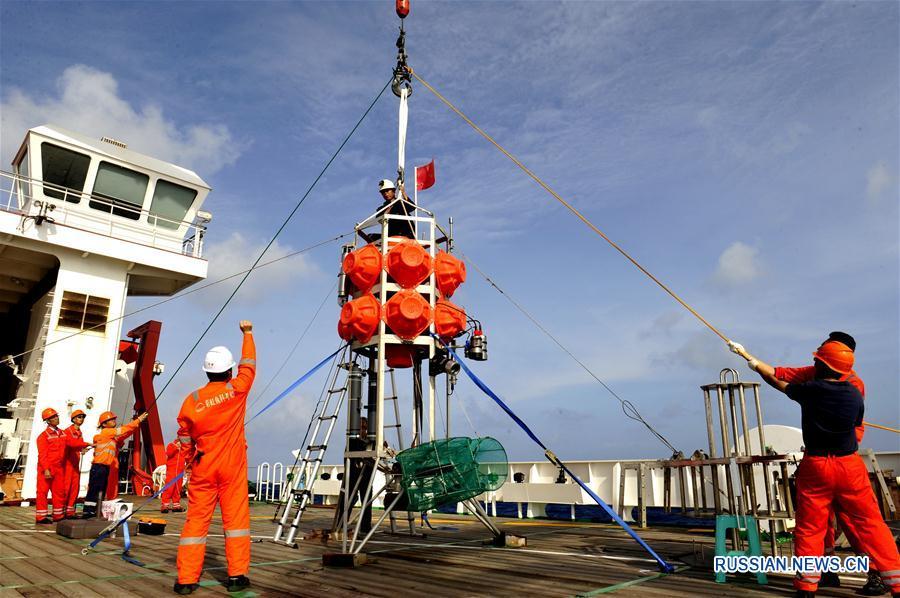 """Научное судно """"Чжан Цзянь"""" продолжает свою работу в Соломоновом море"""