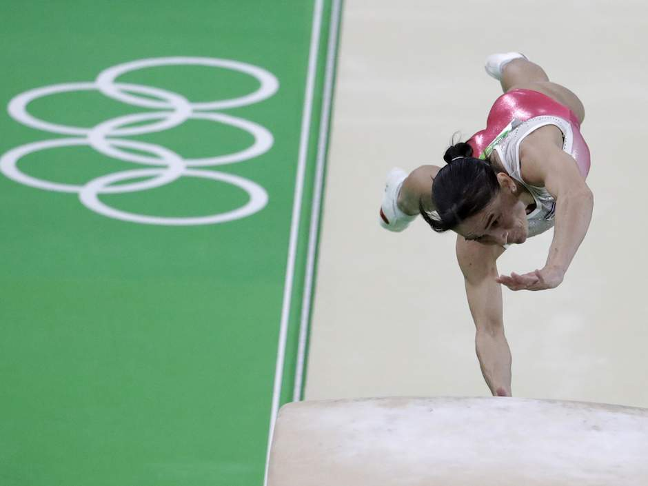 41-year-old Uzbek gymnast competing at seventh Olympic Games