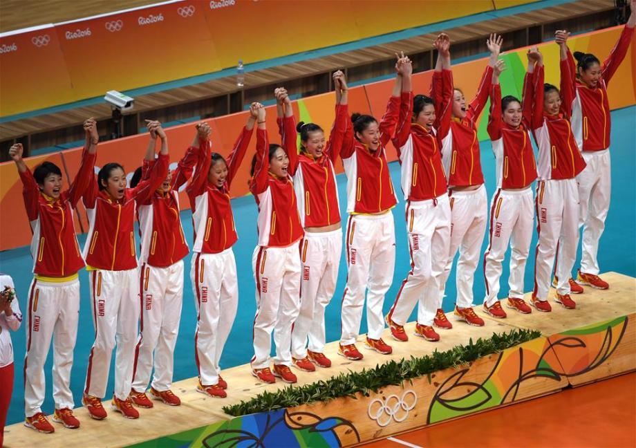 Китайские волейболистки - олимпийские чемпионки