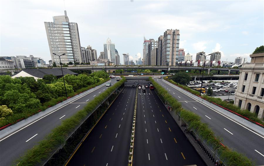 Photo taken on Aug. 22, 2016 shows the West Lake Road in Hangzhou, capital of east China
