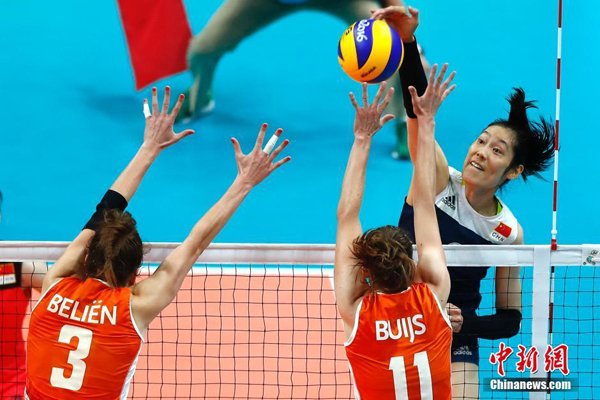 La Chine bat les Pays-Bas 3 sets à 1 en demi-finale de volley-ball féminin