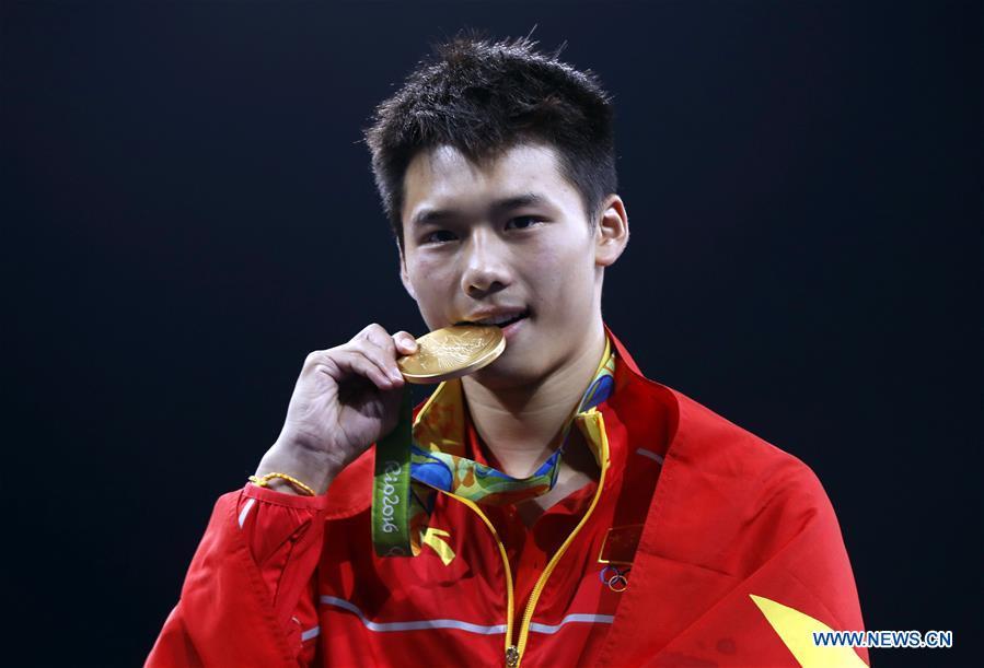 JO-2016: le Chinois Chen Aisen champion du plongeon de haut vol (10 m) messieurs