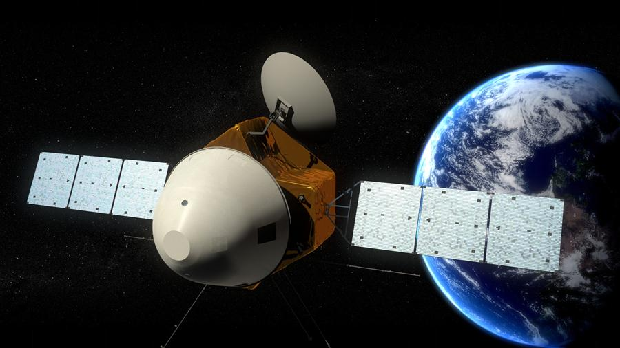 Picture released on Aug. 23, 2016 by lunar probe and space project center of Chinese State Adiministration of Science, Technology and Industry for National Defence shows the concept portraying what the Mars probe would look like. Image of China