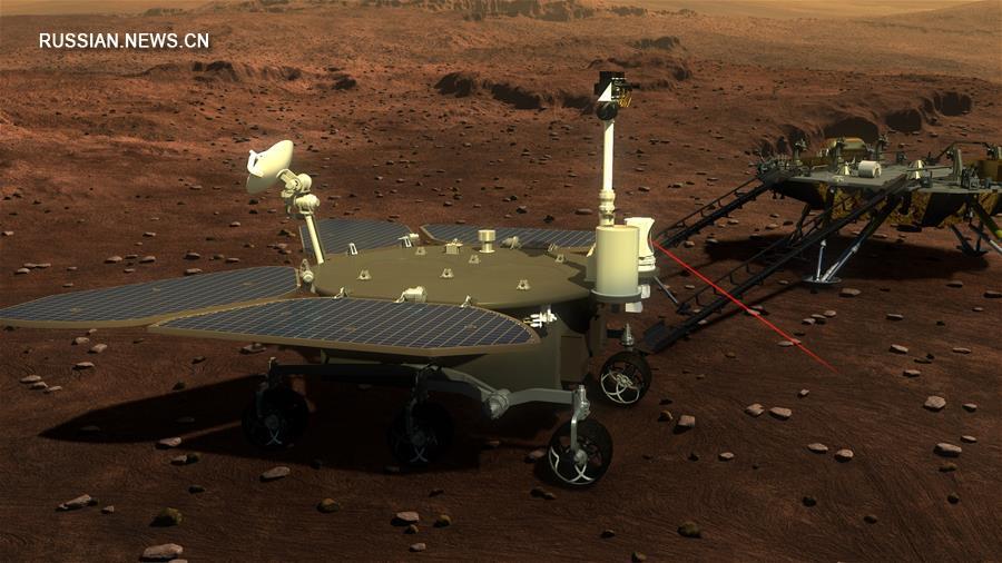 Китай обнародовал изображения будущего марсохода