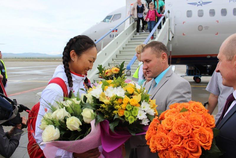 В России встречают победителей Олимпиады