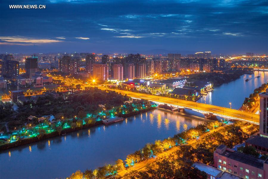 Photo taken on June 29, 2012 shows the Qingfang Bridge in Hangzhou City, capital of east China
