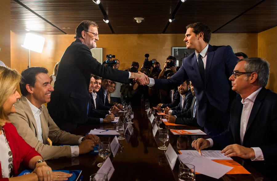 """Partido centrista """"Ciudadanos"""" apoya a presidente en funciones de España Mariano Rajoy"""