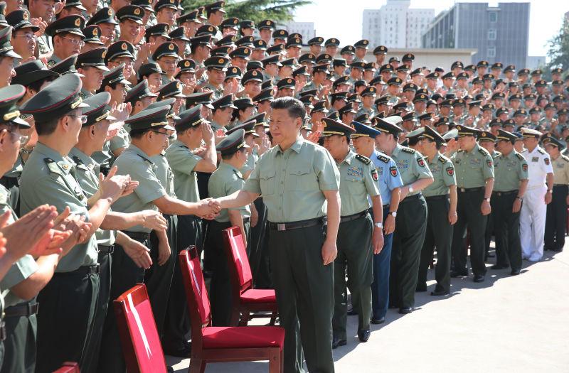 习近平今日视察战略支援部队机关