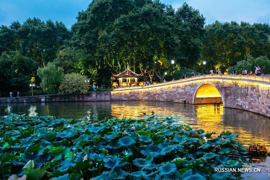 Мост в городе Ханчжоу