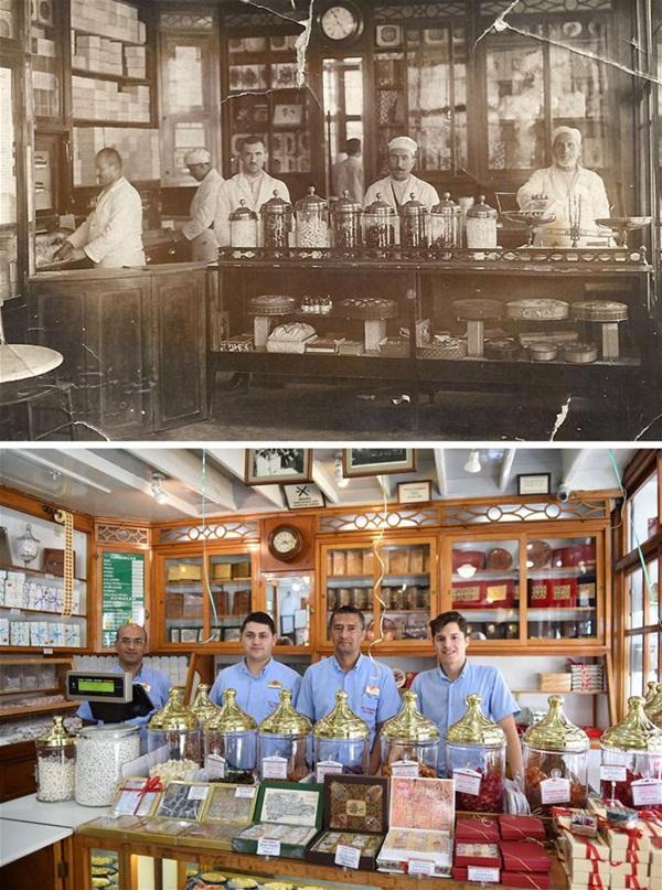 """""""حجي بكير"""".. أقدم محلات الحلويات وأشهرها في إسطنبول"""