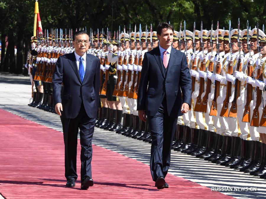 Ли Кэцян провел переговоры с премьер-министром Канады Дж.Трюдо