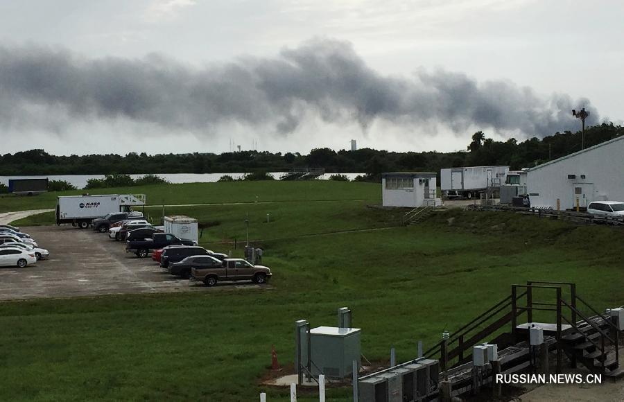"""Очередная неудача коммерческой космонавтики в США - взорвалась ракета-носитель """"Фэлкон-9"""" компании SpaceX"""