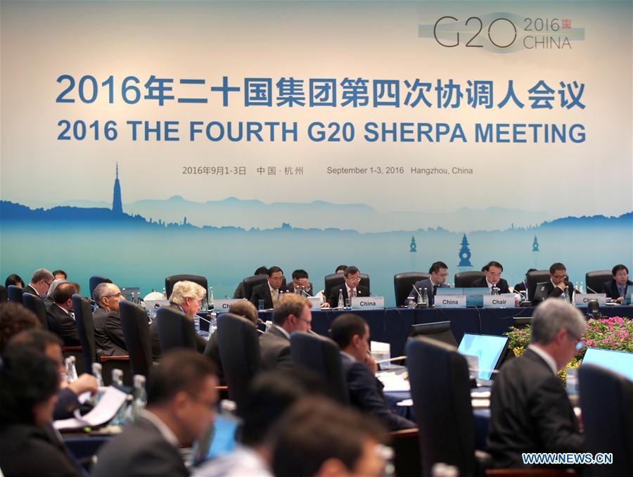 2016 The Fourth G20 Sherpa Meeting is held in Hangzhou, capital of east China