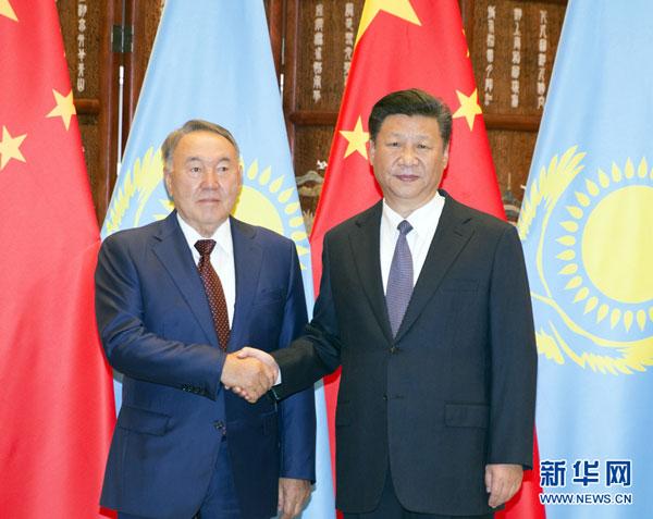 Presidente chino se reúne con homólogo de Kazajistán en Hangzhou