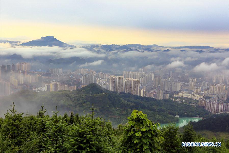 Зеленый город Кайли в Гуйчжоу