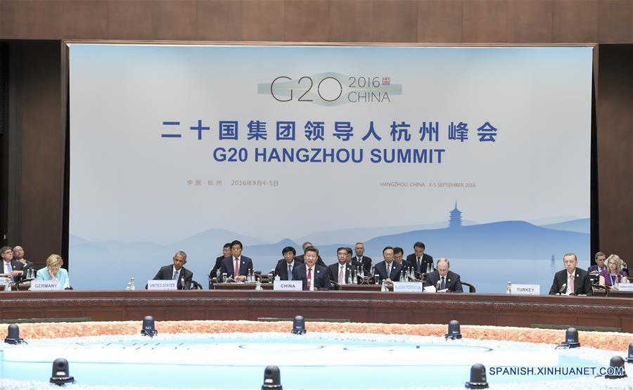 Peña Nieto y Obama intercambian saludo en Cumbre del G20