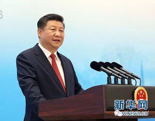 习近平在杭州出席2016年二十国集团工商峰会开幕式,并发表题为《中国发展新起点 全球增长新蓝图》的主旨演讲。新华社记者马占成 摄