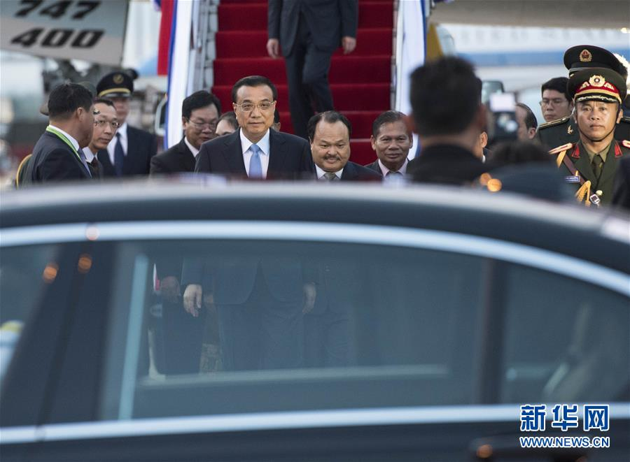 Chinese Premier Li Keqiang has arrived in Vientiane for an official visit to Laos at the invitation of his Lao counterpart Thongloun Sisoulith.