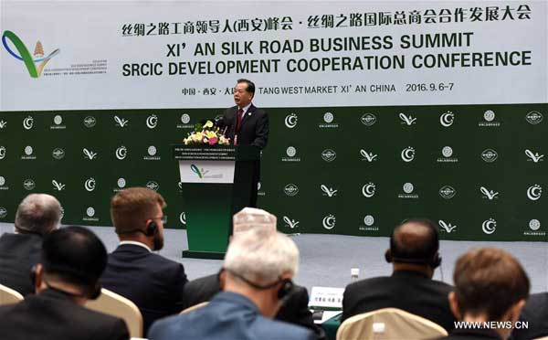 Wang Jinzhen, vice chairman of the China Council for the Promotion of International Trade, speaks during the opening ceremony of Xi