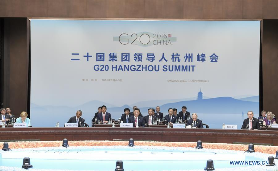 Chinese President Xi Jinping presides over the opening ceremony of the Group of 20 (G20) summit in Hangzhou, capital of east China