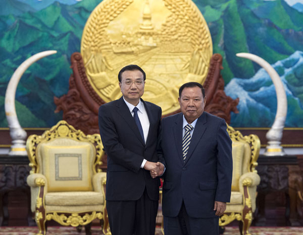 Chinese premier meets with Laotian PM