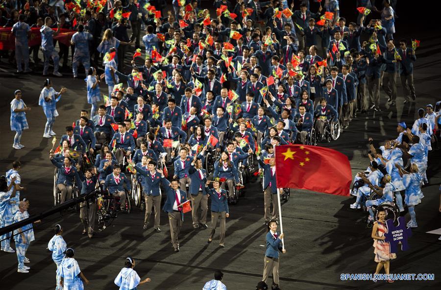 Más de 4.400 atletas de 160 países y regiones participarán en los Juegos Paralímpicos de Río 2016 que serán oficialmente inaugurados en el Estadio de Maracaná.(Xinhua/Xiao Yijiu)