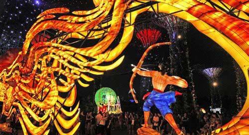 Singapore celebrates Mid-Autumn festival with lighting lanterns, games