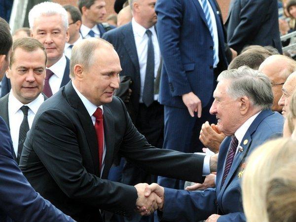 Президент России Владимир Путин поздравил москвичей с Днем города