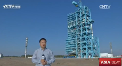 Guan Yang reports from the Satellite Launch Center in the northwestern city of Jiuquan