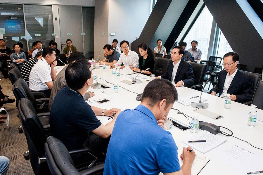 聶辰席部長調研CCTV-財經頻道創新創優工作。