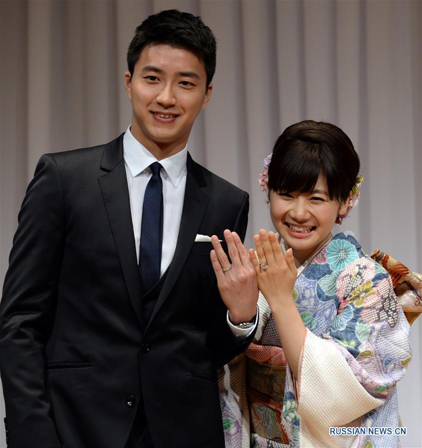 Цзян Хунцзе и Ай Фукухара стали мужем и женой