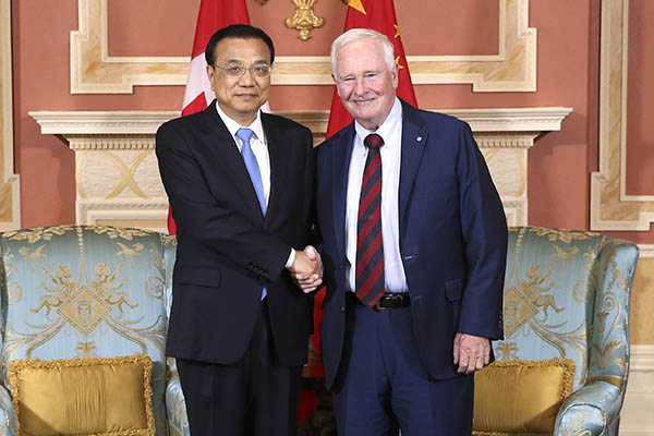 Premier Li Keqiang met with Canada