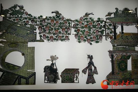 道情皮影博物馆展示的皮影