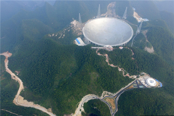 China is set to complete installation work on its 500-meter Aperture Spherical Telescope, known as FAST, the largest such radio telescope in the world.