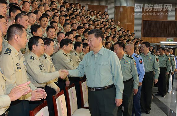President Xi Jinping has visited the Rocket Force of the People