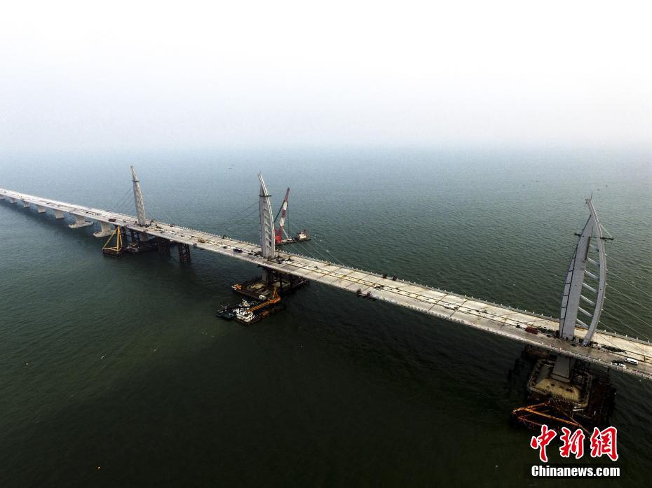 The 55-kilometer Hong Kong-Zhuhai-Macao Bridge is scheduled to be connected today, making it the world