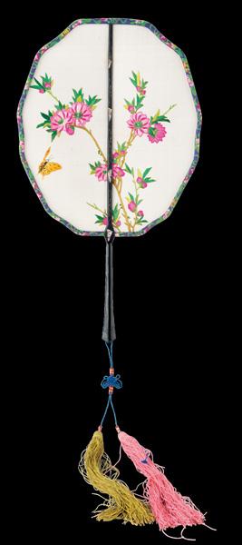 古代圆形扇子手绘