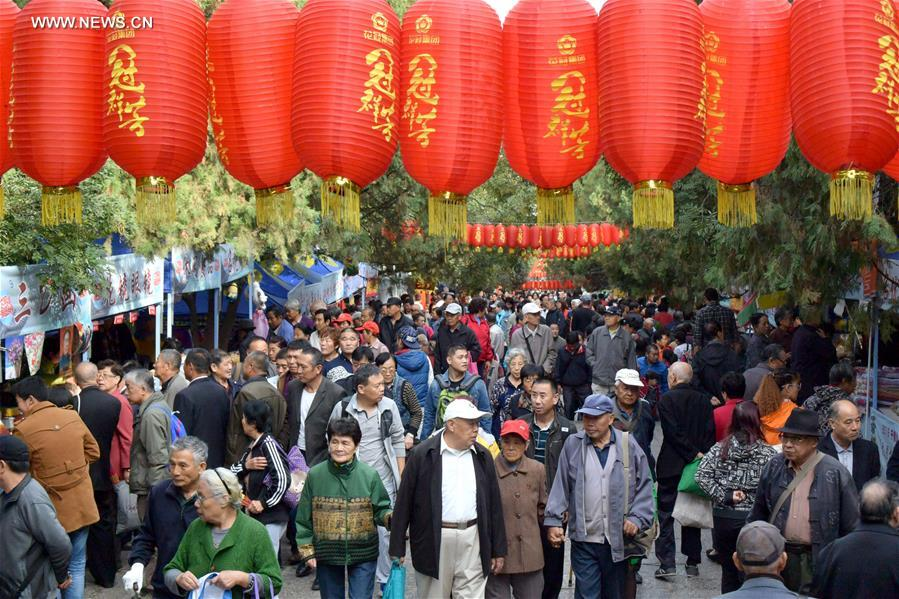 People visit the Qianfo Mountain in Jinan, capital of east China