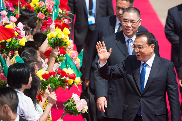 Chinese Premier Li Keqiang arrived in the Macao Special Administrative Region (SAR) on Monday for a three-day inspection visit.