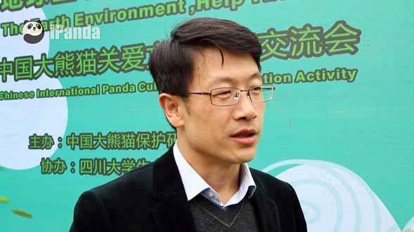 李德生副局长接受熊猫频道记者独家专访(向虹霖 摄)