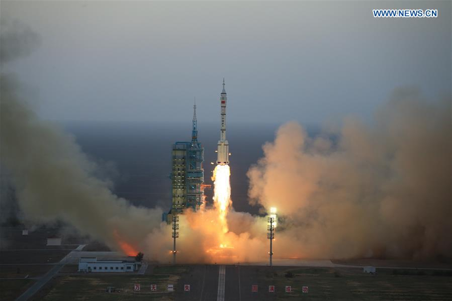 The Long March-2F carrier rocket carrying China
