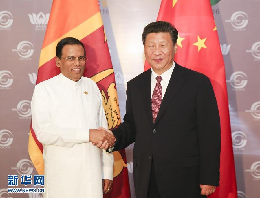 Chinese President Xi Jinping met with Sri Lankan President Maithripala Sirisena on Sunday, vowing to deepen bilateral ties of the two countries.